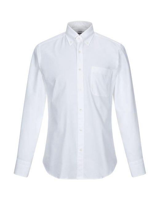 Caliban Hemd in White für Herren