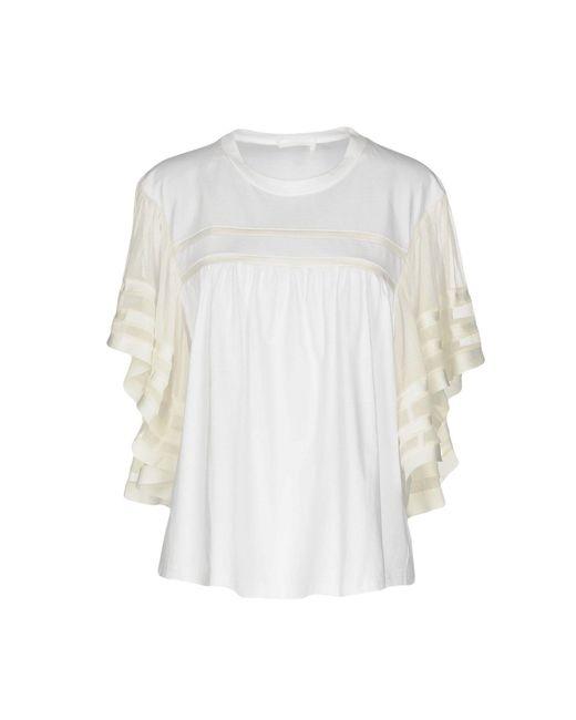 Chloé Blusa de mujer de color blanco 5Ipjj