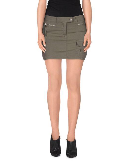 Iceberg - Green Mini Skirt - Lyst