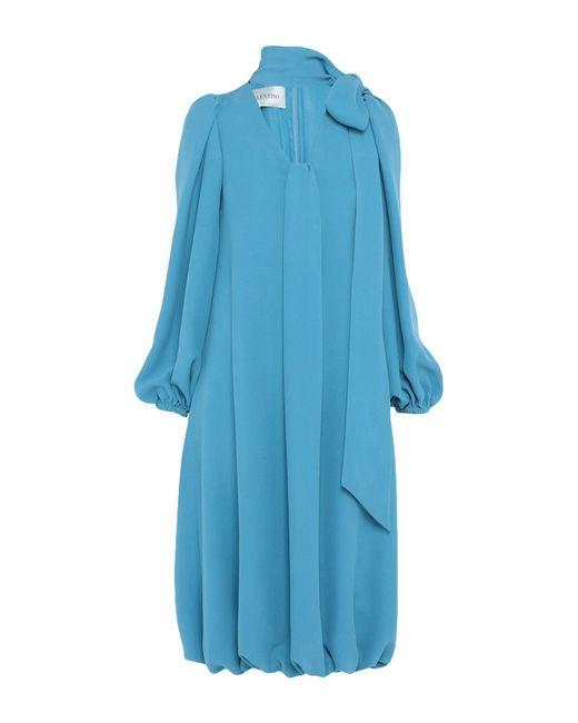 Valentino Blue 3/4 Length Dress