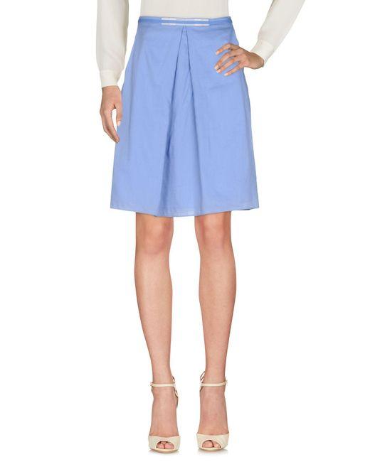 Ballantyne Blue Knee Length Skirt