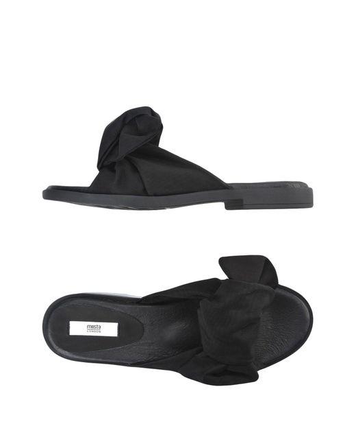 Miista - Black Sandals - Lyst
