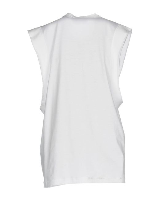 DSquared² Camiseta de mujer de color blanco 0x2q5