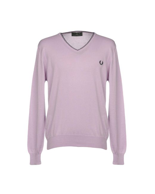 Fred Perry | Purple Jumper for Men | Lyst