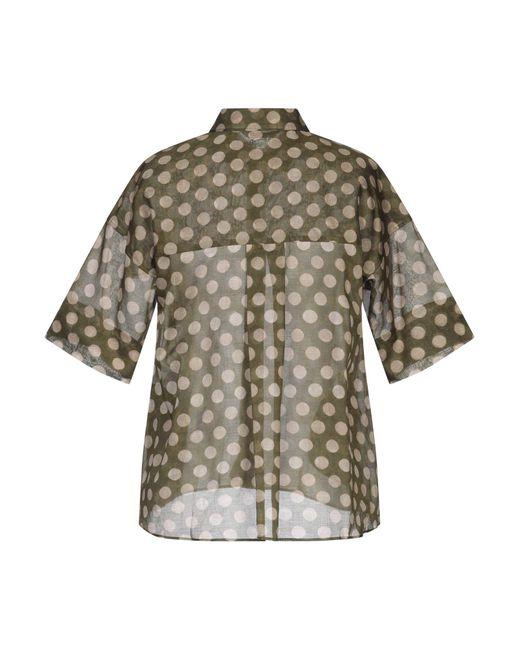 Caliban Camisa de mujer de color marrón 9OjK1