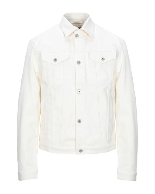 Band of Outsiders White Denim Outerwear for men