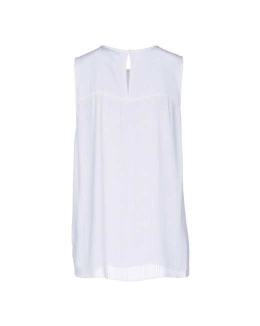 MICHAEL Michael Kors Top de mujer de color blanco iHpxN