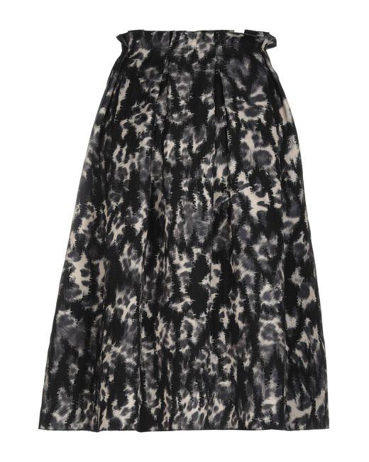 Alessandro Dell'acqua Black 3/4 Length Skirt