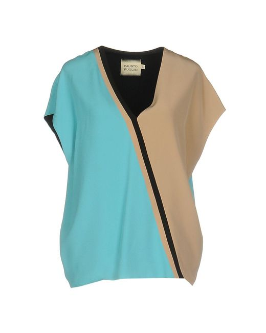 Fausto Puglisi - Blue Blouse - Lyst