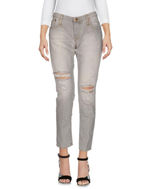 People - Gray (+) People Denim Trousers - Lyst