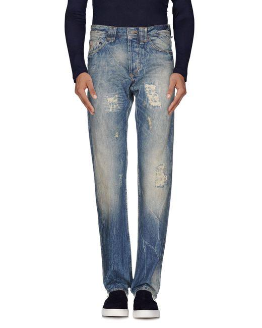 Pantalon en jean John Galliano pour homme en coloris Blue