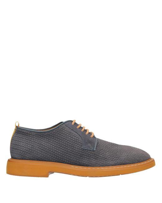 CafeNoir Zapatos de cordones de hombre de color azul