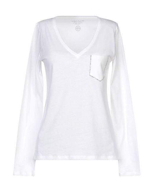 Majestic Filatures Camiseta de mujer de color blanco lPEbp