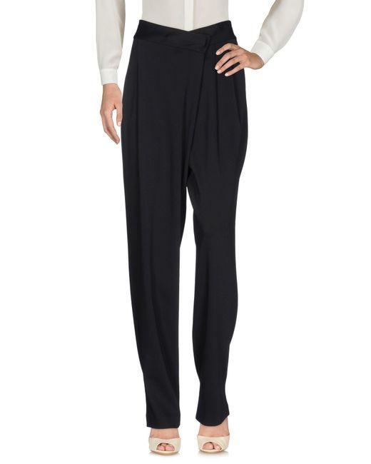 Donna Karan - Black Casual Pants - Lyst