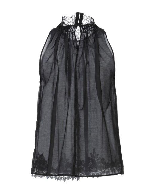 Elisabetta Franchi Top de mujer de color negro uu9PD