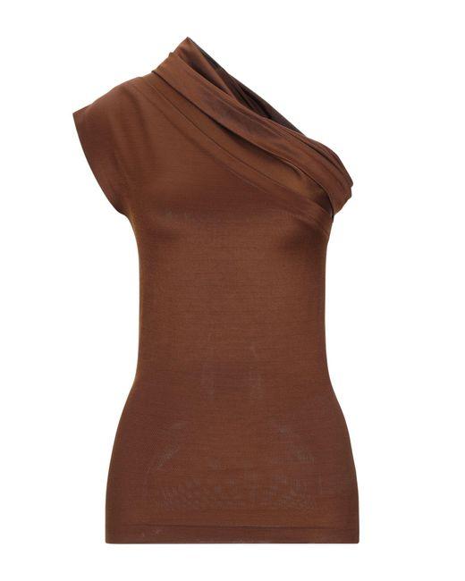Top di Erika Cavallini Semi Couture in Brown