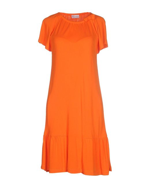 RED Valentino | Orange Knee-length Dress | Lyst