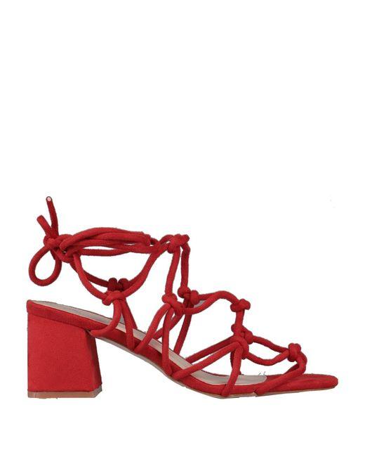 Public Desire Sandalias de mujer de color rojo