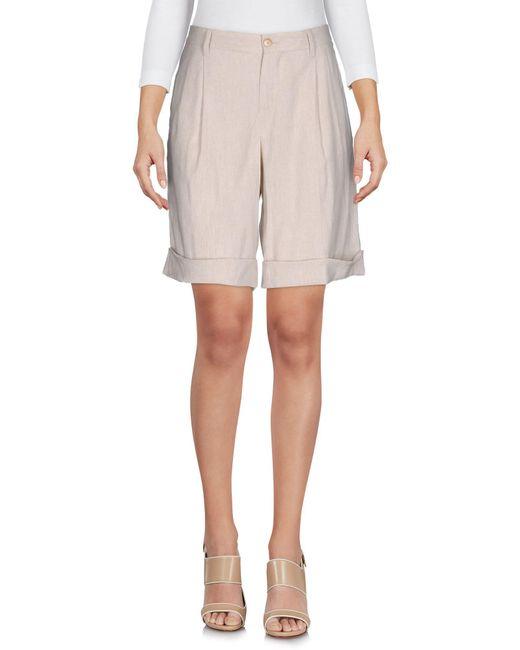 PT01 Natural Bermuda Shorts