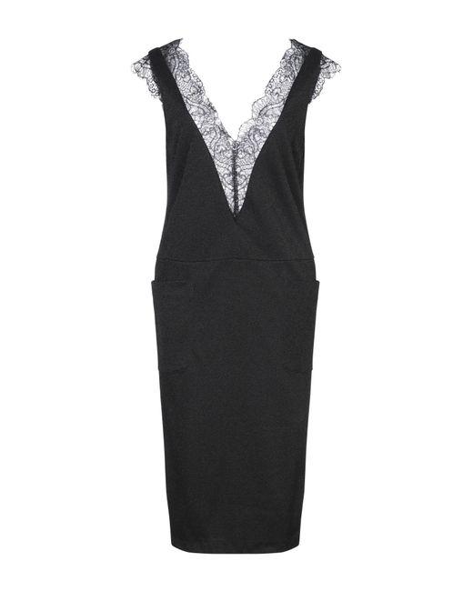 Manila Grace Black Knee-length Dress