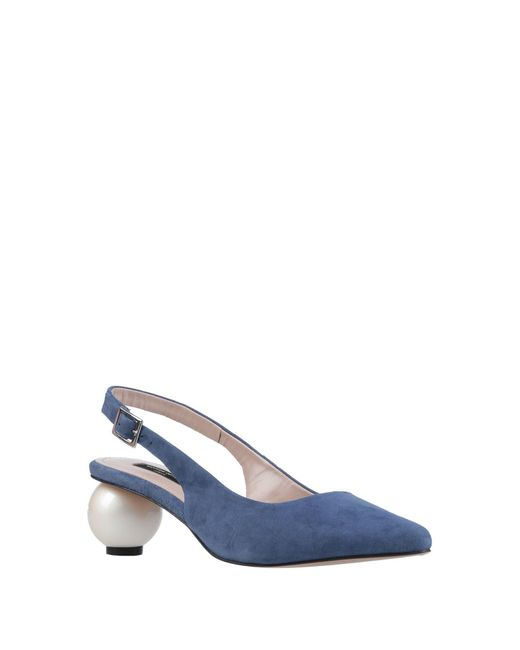 Mother Of Pearl Blue Pumps