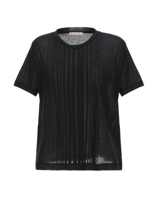 Marni Camiseta de mujer de color negro hWfgg
