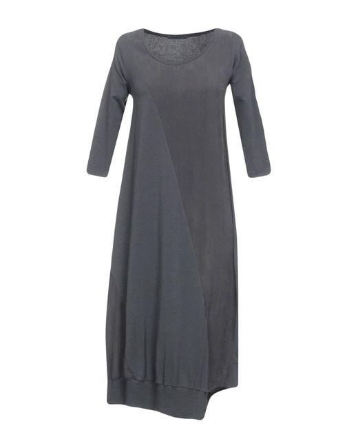 Crea Concept Gray Knee-length Dress