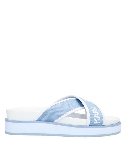 Karl Lagerfeld Sandalias de mujer de color azul