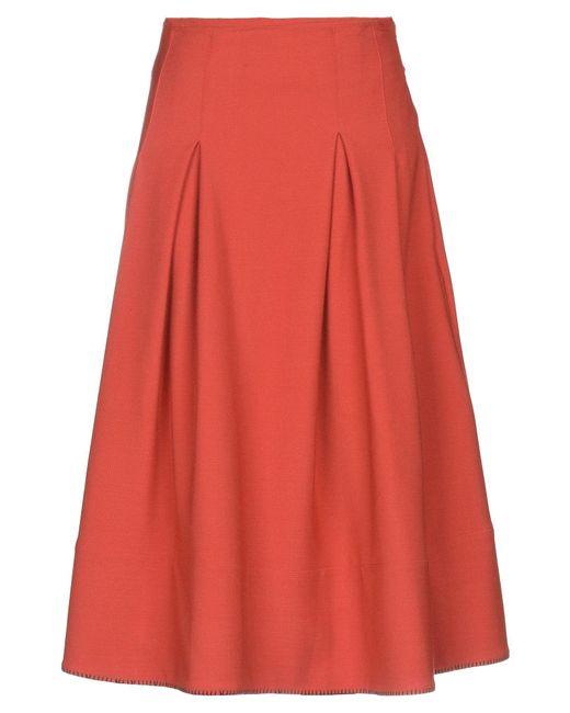 Ballantyne Red 3/4 Length Skirt