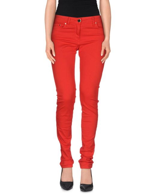 Elisabetta Franchi - Red Casual Pants - Lyst