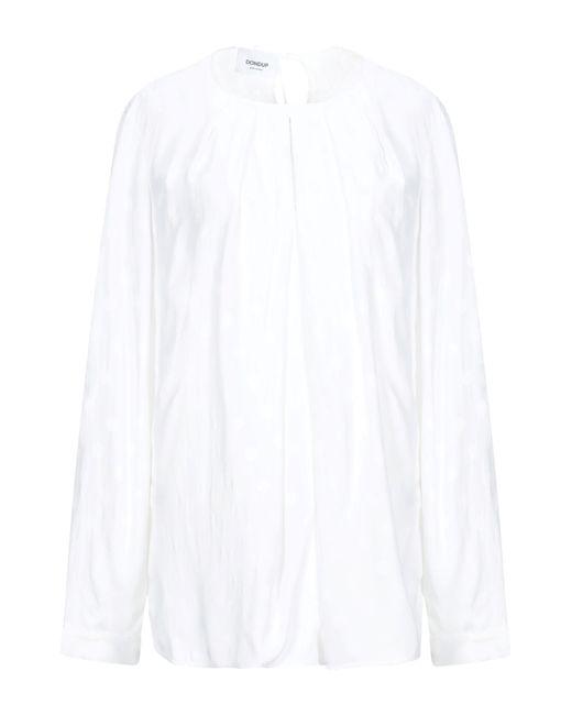 Dondup Blusa de mujer de color blanco spAlN