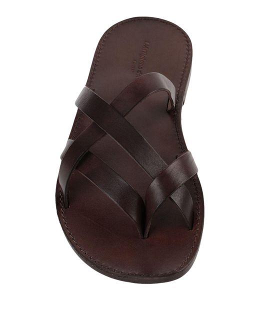 L'artigiano Del Cuoio Brown Toe Post Sandal for men