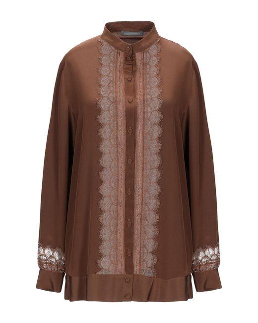 Alberta Ferretti Camisa de mujer de color marrón 7HO3t