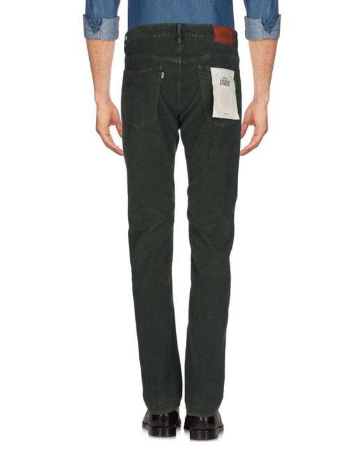 Incotex Pantalon homme de coloris vert