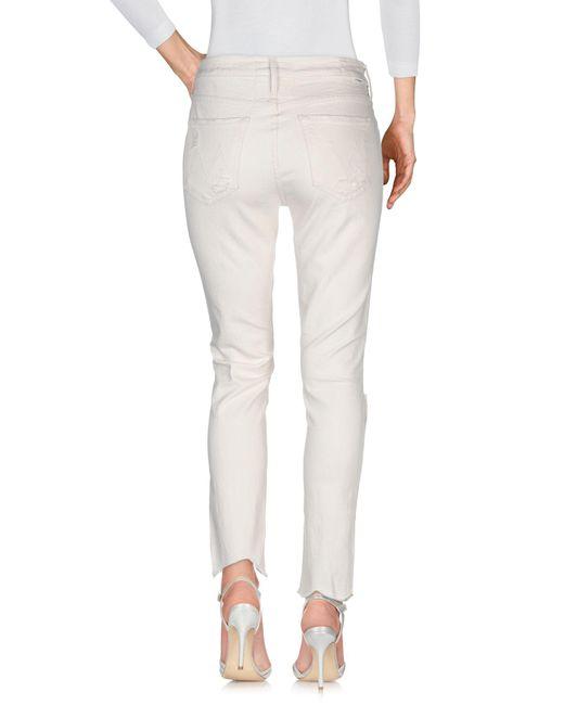 Pantalon en jean Mother en coloris White