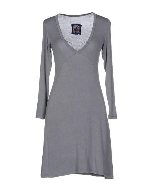 Made In Heaven   Gray Short Dress   Lyst