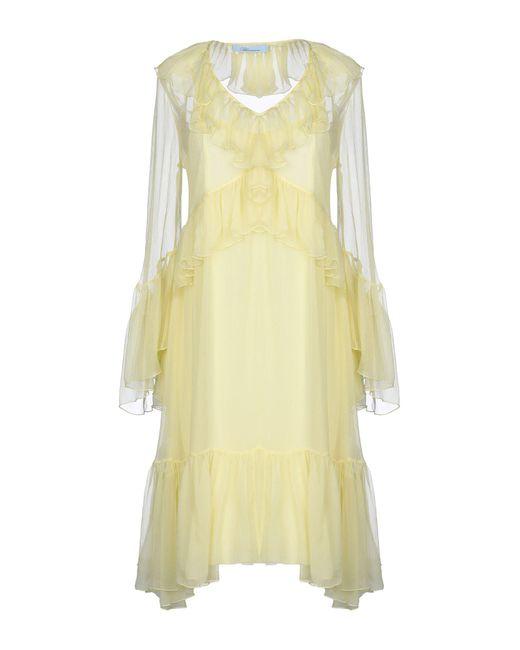 Robe courte Blumarine en coloris Yellow