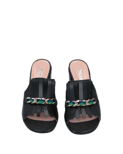 Sandales Pollini en coloris Black