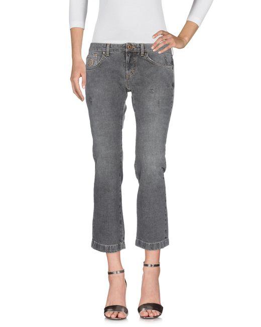 Pantalon en jean Blumarine en coloris Gray
