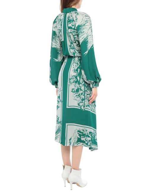 Tibi Green Langes Kleid