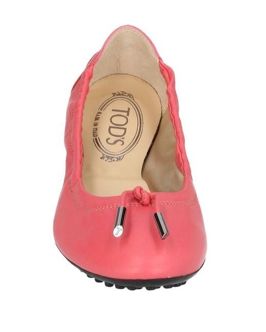Ballerines Tod's en coloris Pink