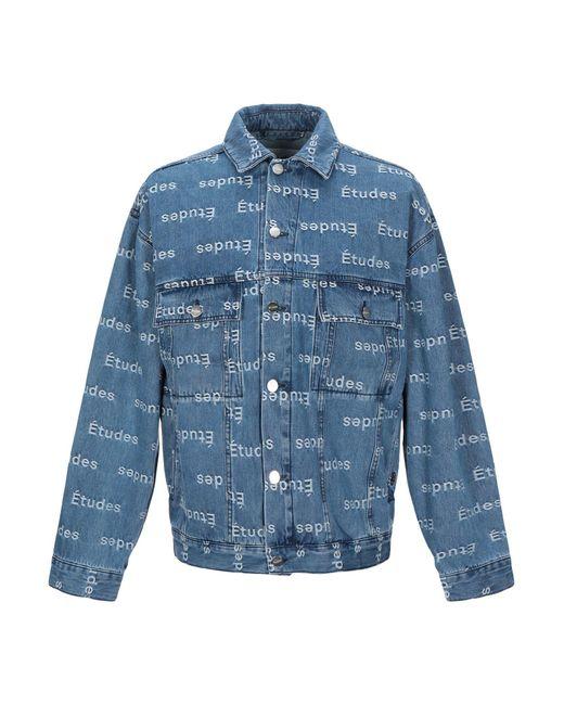 Capospalla jeans di Etudes Studio in Blue da Uomo