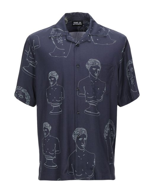 Band of Outsiders Blue Shirt for men
