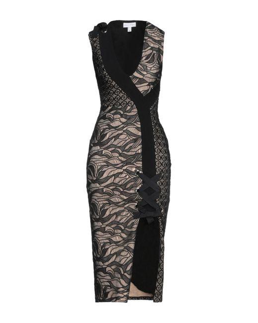 Vestido a media pierna Rebecca Vallance de color Black