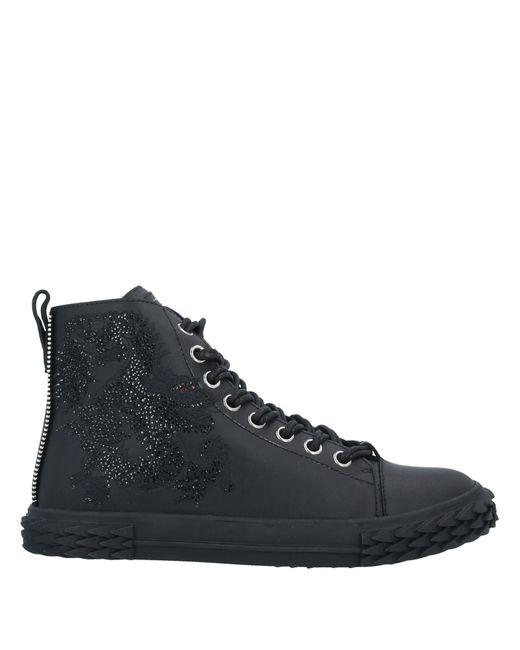 Sneakers abotinadas Giuseppe Zanotti de hombre de color Black