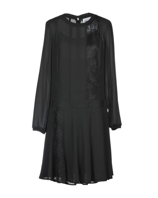 MY TWIN Twinset Black Short Dress