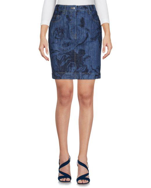 Moschino - Blue Denim Skirt - Lyst