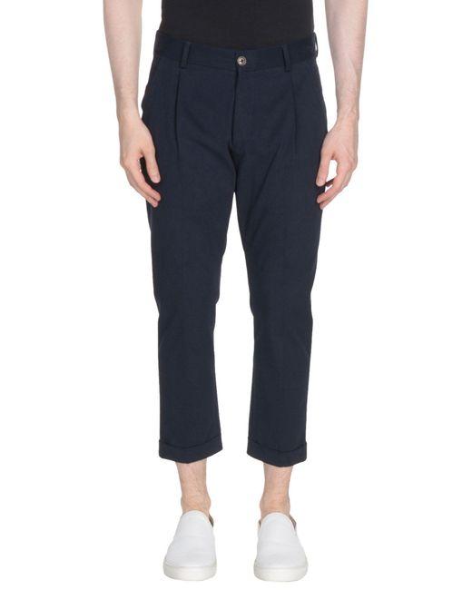26.7 Twentysixseven - Blue 3/4-length Trousers for Men - Lyst