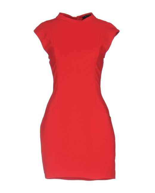 Guess - Red Short Dresses - Lyst