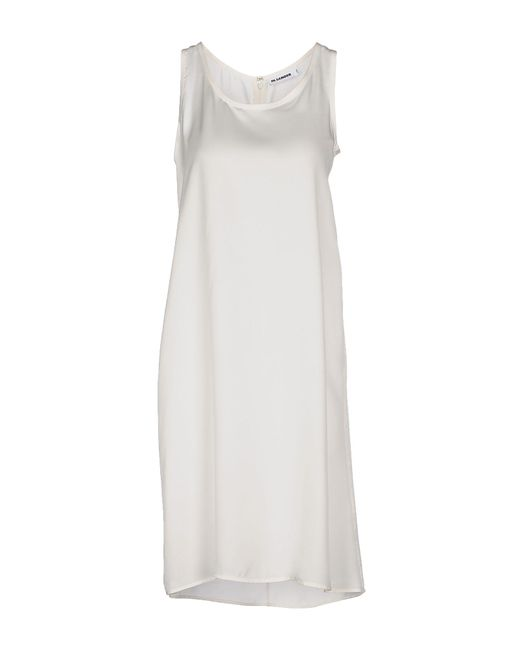 Jil Sander - White Knee-length Dress - Lyst